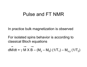 Pulse and FT NMR