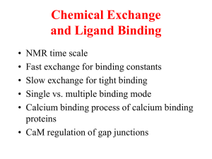 Chemical Exchange and Ligand Binding