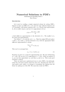 Numerical Solutions to PDE's