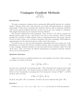 Conjugate Gradient Methods