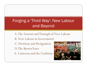 Forging a 'Third Way': New Labour and Beyond