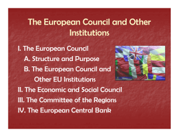 The European Council and Other p Institutions