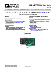 EVAL-AD5592RSDZ User Guide UG-753
