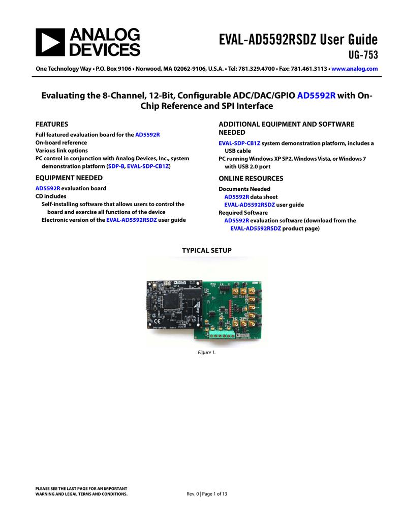 EVAL-AD5592RSDZ User Guide UG-753