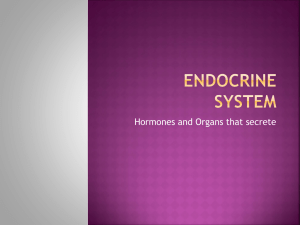 Hormones and Organs that secrete