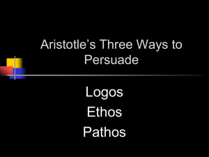 Logos Ethos Pathos Aristotle's Three Ways to