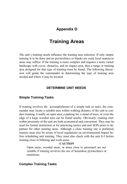 Training Areas Appendix D