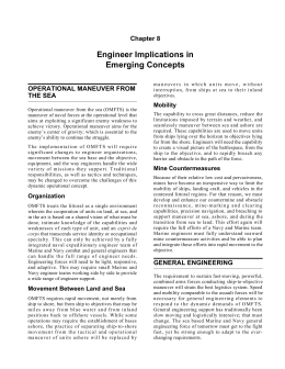 Engineer Implications in Emerging Concepts Chapter 8 OPERATIONAL MANEUVER FROM