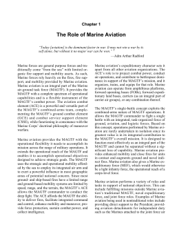 The Role of Marine Aviation Chapter 1
