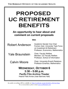PROPOSED UC RETIREMENT BENEFITS