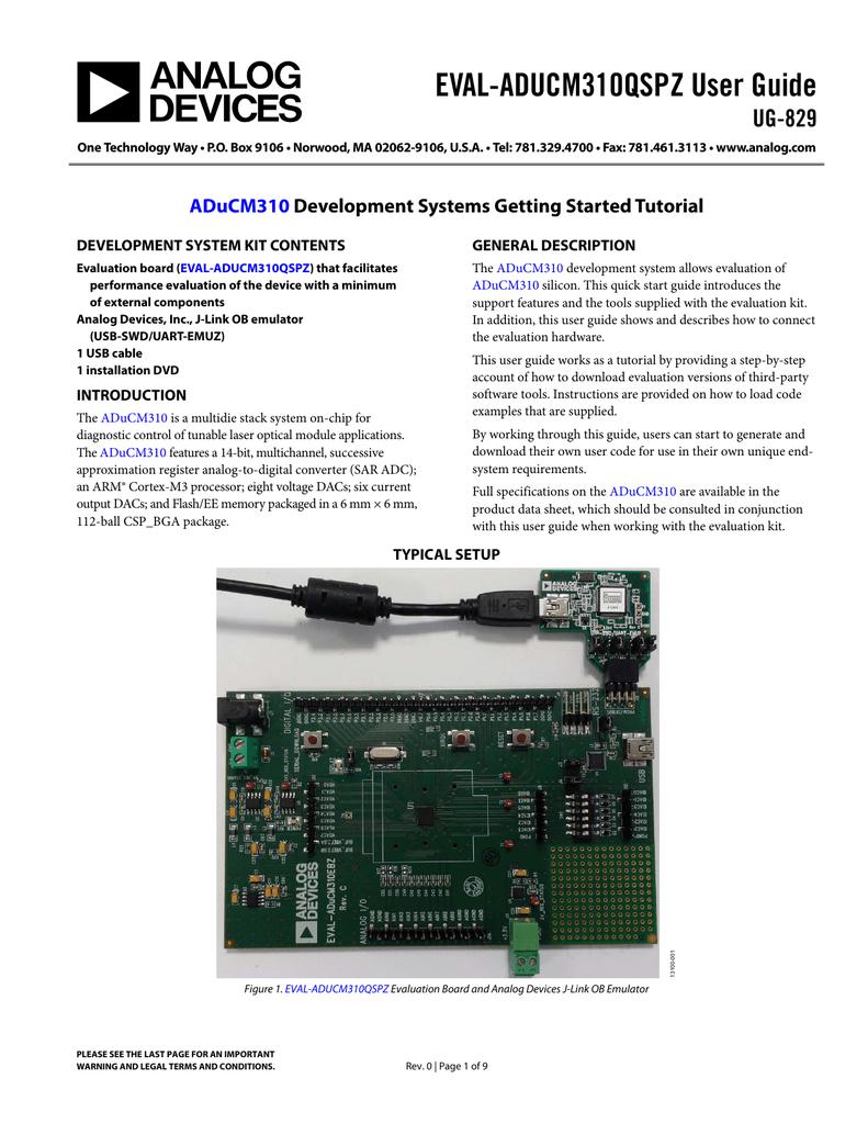EVAL-ADUCM310QSPZ User Guide UG-829