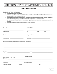 CITATION APPEAL FORM