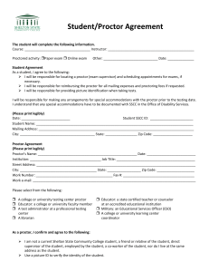 Student/Proctor Agreement