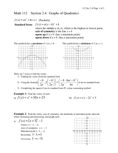 Math 112    Section 2.4:  Graphs of...