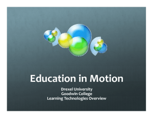 Education in Motion