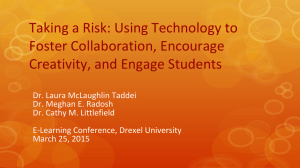Taking a Risk: Using Technology to Foster Collaboration, Encourage