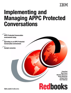 Implementing and Managing APPC Protected Conversations Front cover