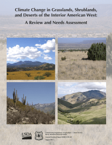 Climate Change in Grasslands, Shrublands, A Review and Needs Assessment