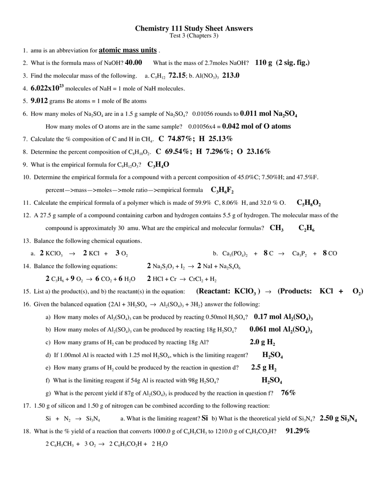 Honors chemistry empirical formula worksheet