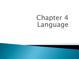 Chapter 4 Language 1