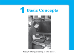 1 Functions Basic Concepts Copyright © Cengage Learning. All rights reserved.