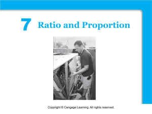 7 Functions Ratio and Proportion Copyright © Cengage Learning. All rights reserved.