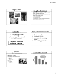Chapter Objectives Product Design and Development 11/8/2010
