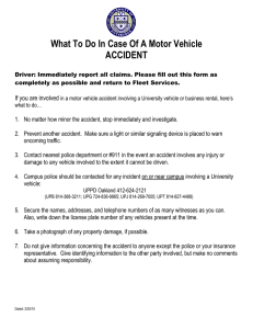 What To Do In Case Of A Motor Vehicle ACCIDENT