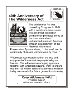 40th Anniversary of The Wilderness Act