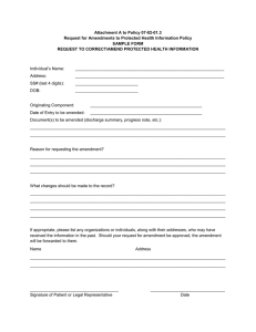 Attachment A to Policy 07-02-01.3 SAMPLE FORM
