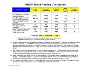PRISM Batch Naming Conventions