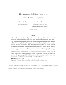 The Automatic Stabilizer Property of Social Insurance Programs