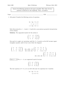 Math 1090 Quiz 3 Solutions February 23rd, 2015