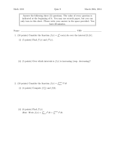 Math 1210 Quiz 9 March 28th, 2014