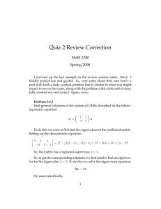 Quiz 2 Review Correction Math 2280 Spring 2008