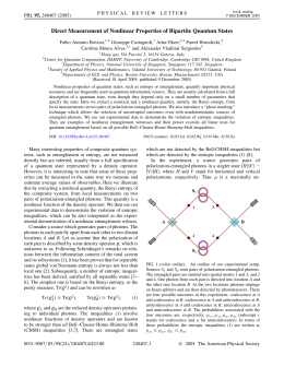Direct Measurement of Nonlinear Properties of Bipartite Quantum States