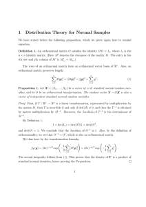 1 Distribution Theory for Normal Samples