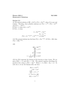 Honors 2201-4 Fall 2003 Homework 6 Solutions Section 2.5