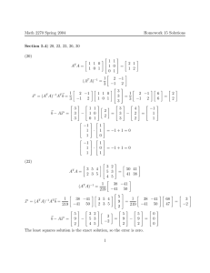Math 2270 Spring 2004 Homework 15 Solutions Section 5.4