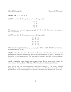 Math 2270 Spring 2004 Homework 17 Solutions Section 6.1