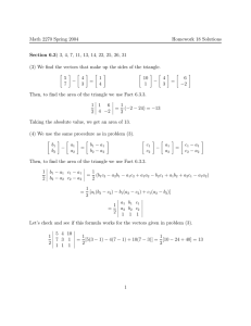 Math 2270 Spring 2004 Homework 18 Solutions Section 6.3