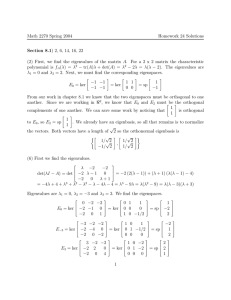 Math 2270 Spring 2004 Homework 24 Solutions Section 8.1