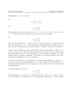 Math 2270 Spring 2004 Homework 25 Solutions Section 8.2