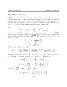 Math 2270 Spring 2004 Homework 26 Solutions Section 8.3
