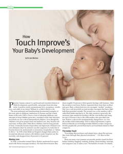 Touch Improve's P Your Baby's Development How