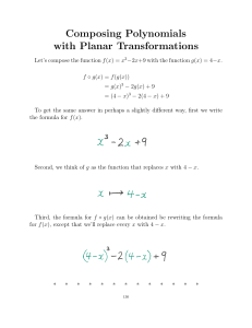Composing Polynomials with Planar Transformations