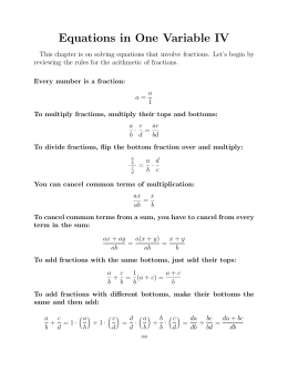 Equations in One Variable IV