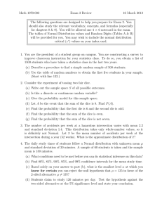 Math 1070-003 Exam 2 Review 16 March 2013