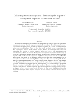 Online reputation management: Estimating the impact of
