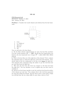ME 422 Problem 1 FEM Homework #6 Distributed: January 17, 2013